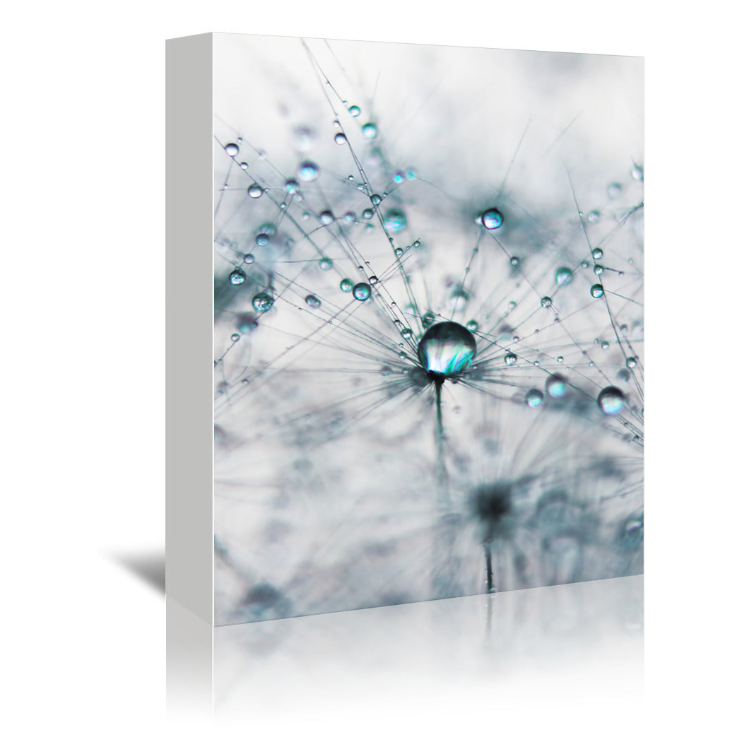 Droplets Of Cyan by Ingrid Beddoes Wrapped Canvas - Wrapped Canvas - Americanflat