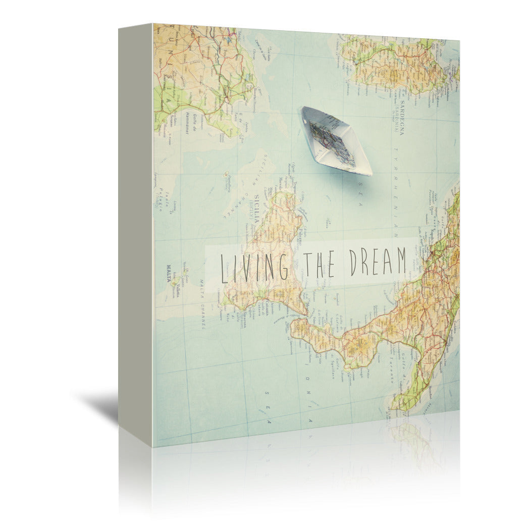 Living The Dream by Ingrid Beddoes Wrapped Canvas - Wrapped Canvas - Americanflat