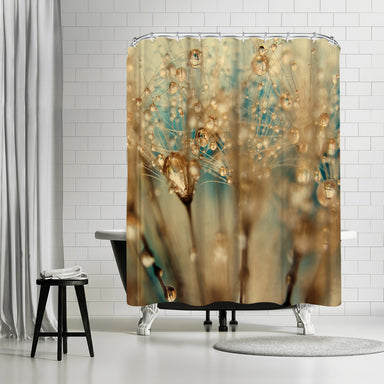 Droplets of Gold by Ingrid Beddoes - Shower Curtain - Americanflat