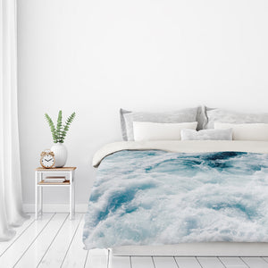 Midnight Blue Storm by Ingrid Beddoes Duvet Cover