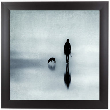 One Man And His Dog by Ingrid Beddoes Framed Print - Americanflat