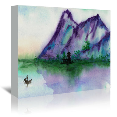 Fishing At Dawn by Brazen Design Studio Wrapped Canvas - Wrapped Canvas - Americanflat