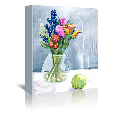 Fresh Flowers by Brazen Design Studio Wrapped Canvas - Wrapped Canvas - Americanflat