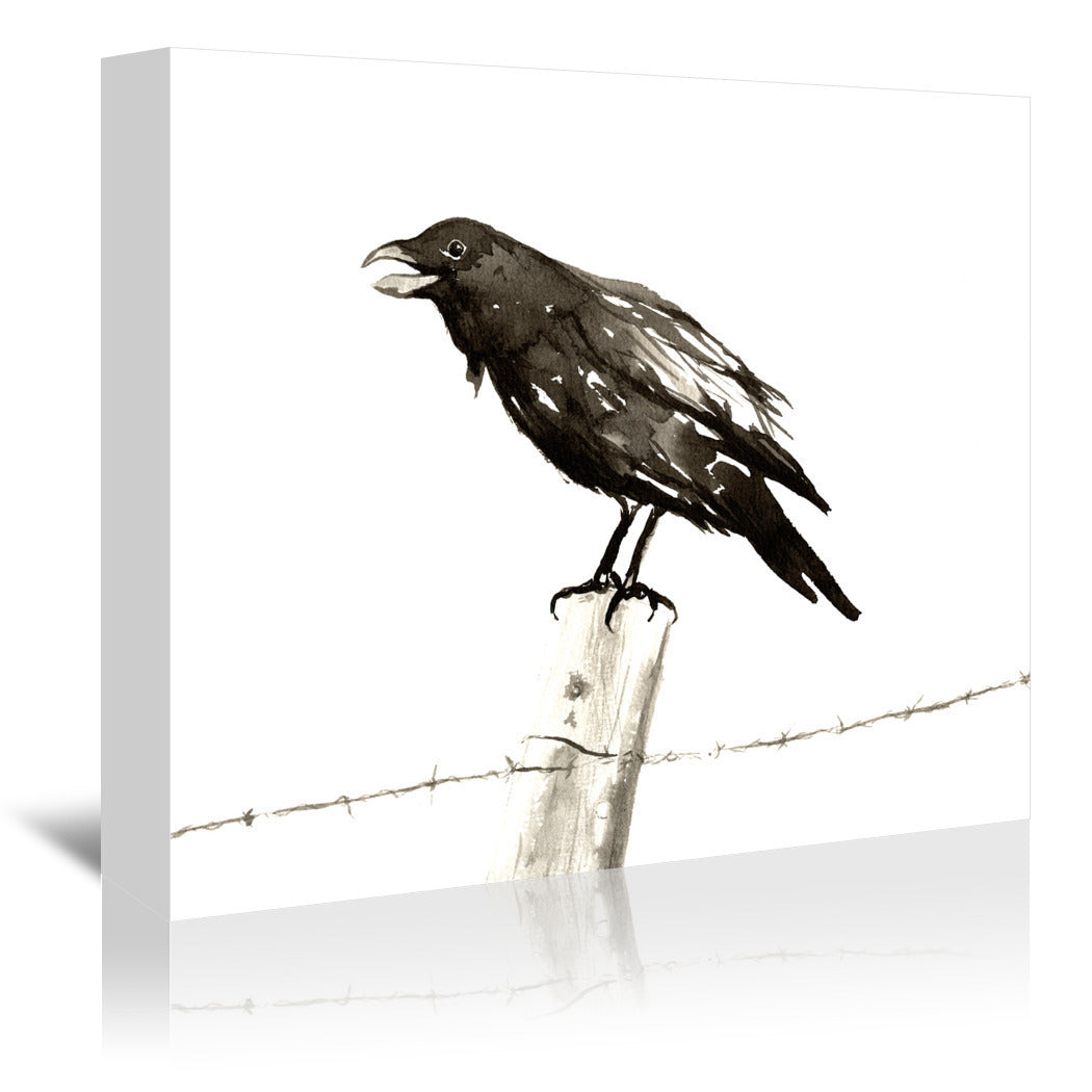 Ravens Call by Brazen Design Studio Wrapped Canvas - Wrapped Canvas - Americanflat
