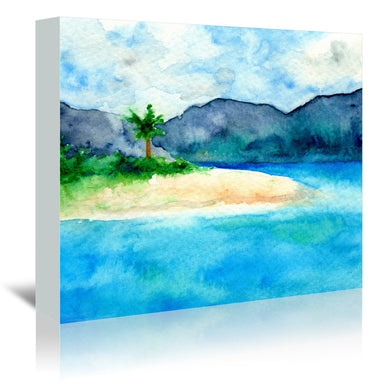 Sandy Cove by Brazen Design Studio Wrapped Canvas - Wrapped Canvas - Americanflat