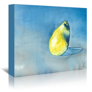 Solitary Pear by Brazen Design Studio Wrapped Canvas - Wrapped Canvas - Americanflat