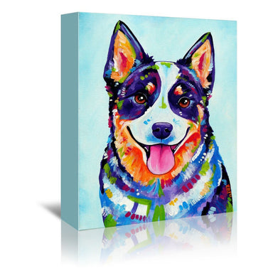 Australian Cattle Dog by Eve Izzett Wrapped Canvas - Wrapped Canvas - Americanflat