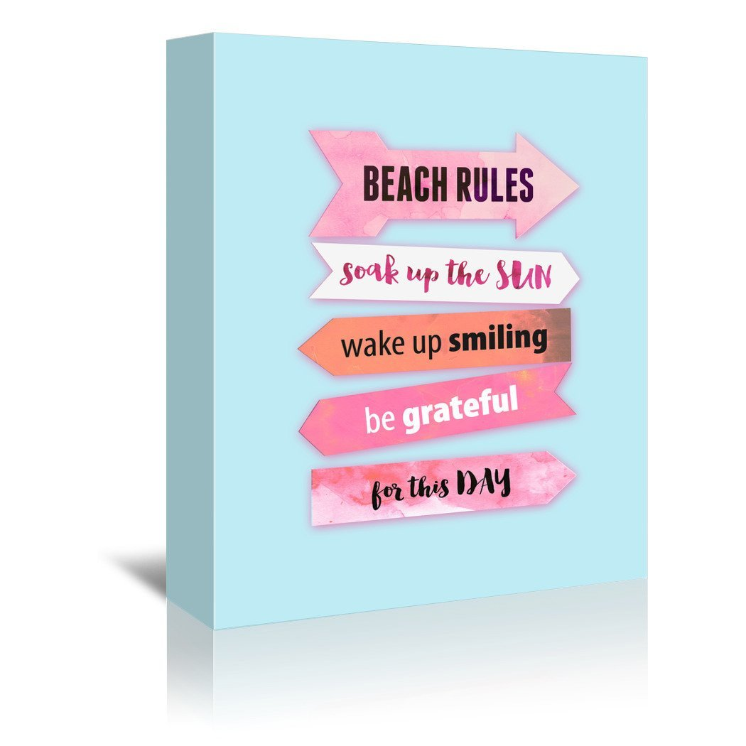 Beach Rules by Emanuela Carratoni Wrapped Canvas - Wrapped Canvas - Americanflat
