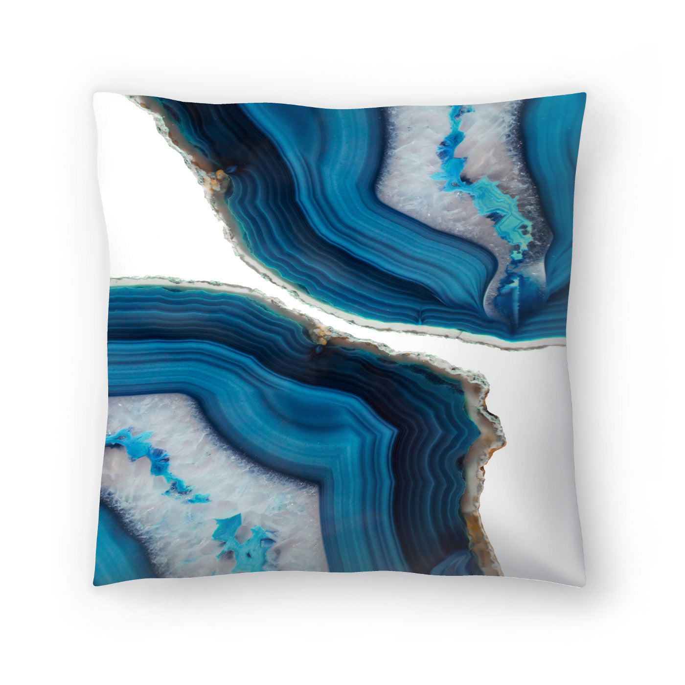 Blue Agate by Emanuela Carratoni Decorative Pillow - Decorative Pillow - Americanflat