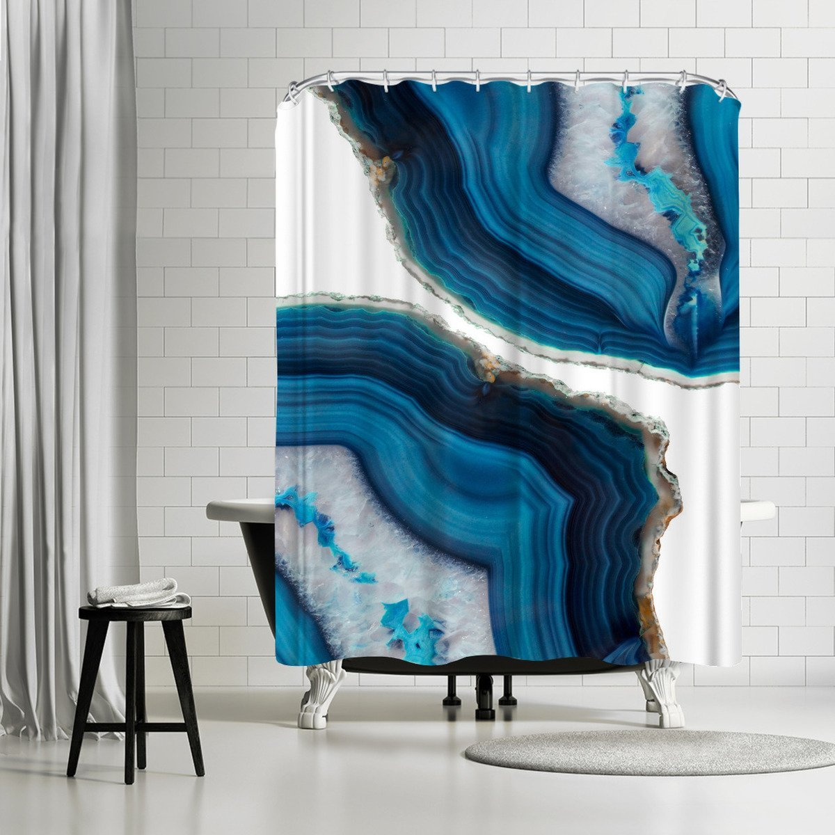 Blue Agate by Emanuela Carratoni Shower Curtain - Shower Curtain - Americanflat