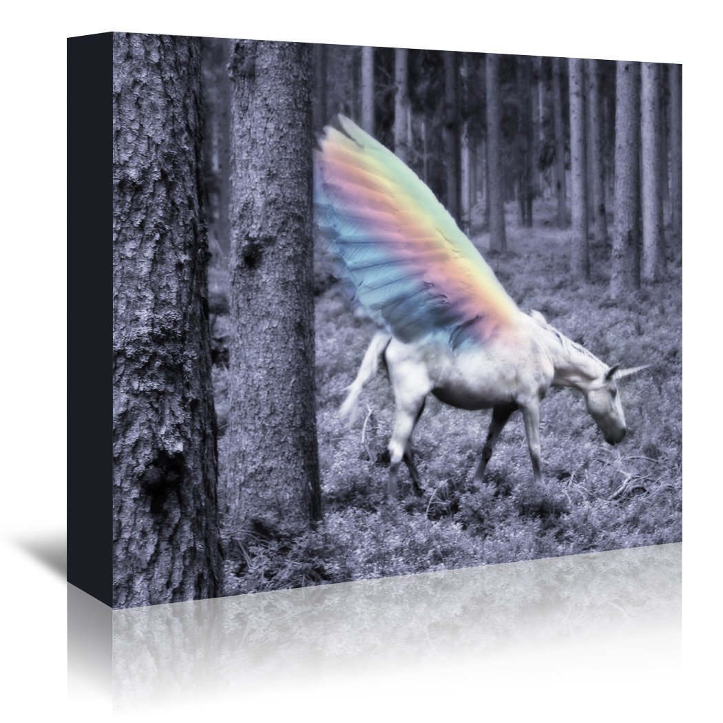 Chasing The Unicorn by Emanuela Carratoni Wrapped Canvas - Wrapped Canvas - Americanflat