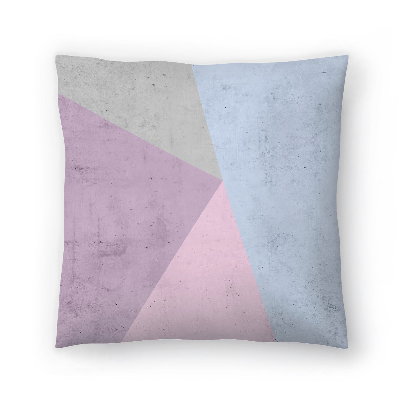 Cold Tones Geometry by Emanuela Carratoni Decorative Pillow - Decorative Pillow - Americanflat