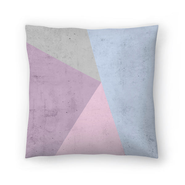 Cold Tones Geometry by Emanuela Carratoni Decorative Pillow