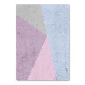 Cold Tones Geometry by Emanuela Carratoni Art Print