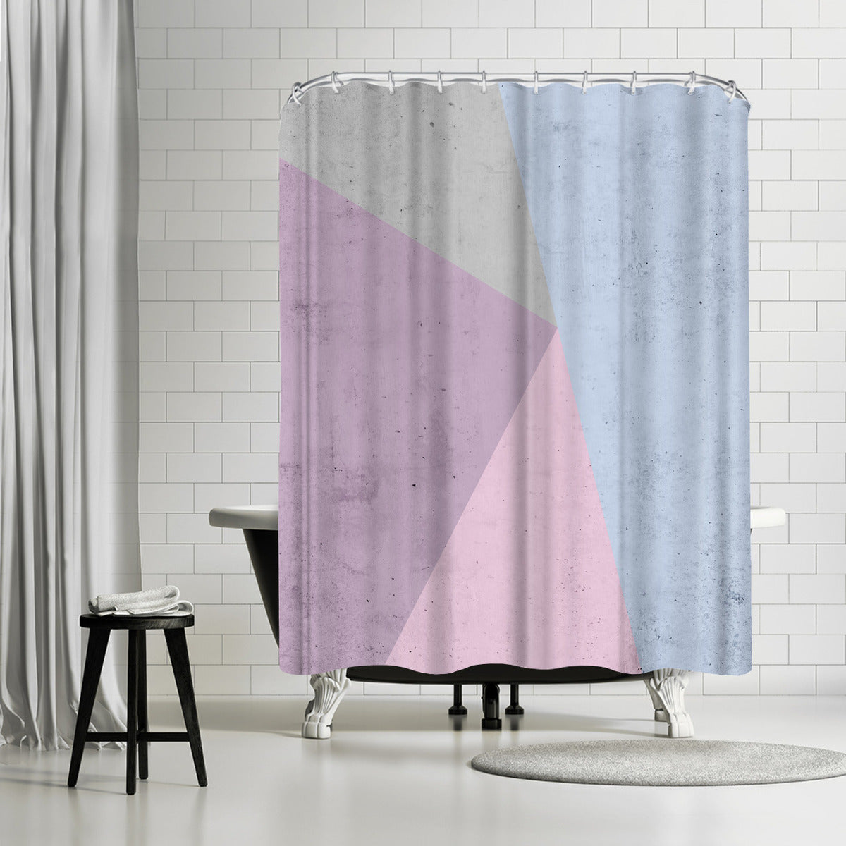 Cold Tones Geometry by Emanuela Carratoni Shower Curtain - Shower Curtain - Americanflat