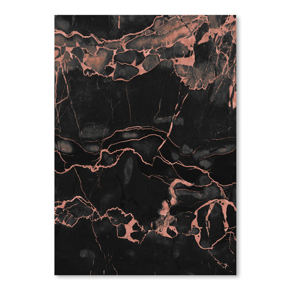 Copper On Black Marble by Emanuela Carratoni Art Print