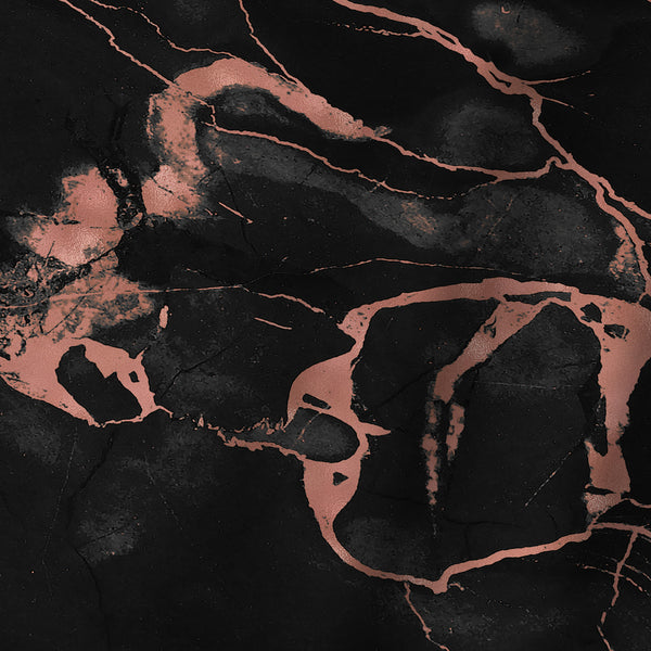 Copper On Black Marble by Emanuela Carratoni Shower Curtain