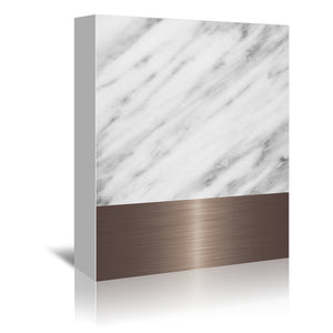 Copper On Marble by Emanuela Carratoni Wrapped Canvas