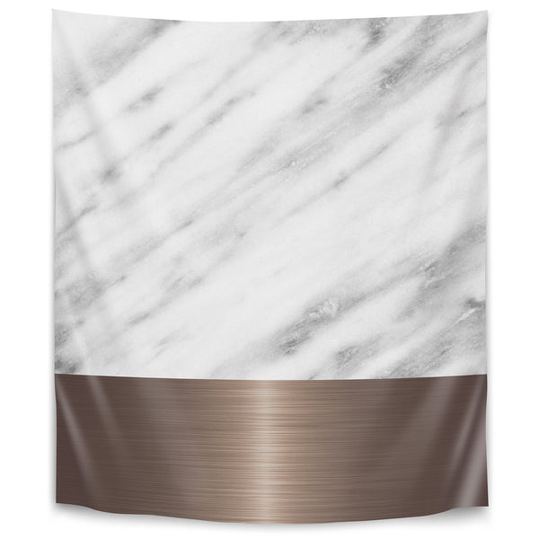 Copper On Marble by Emanuela Carratoni Tapestry
