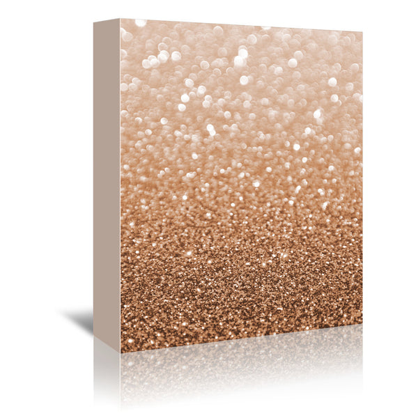 Copper Shiny Texture by Emanuela Carratoni Wrapped Canvas