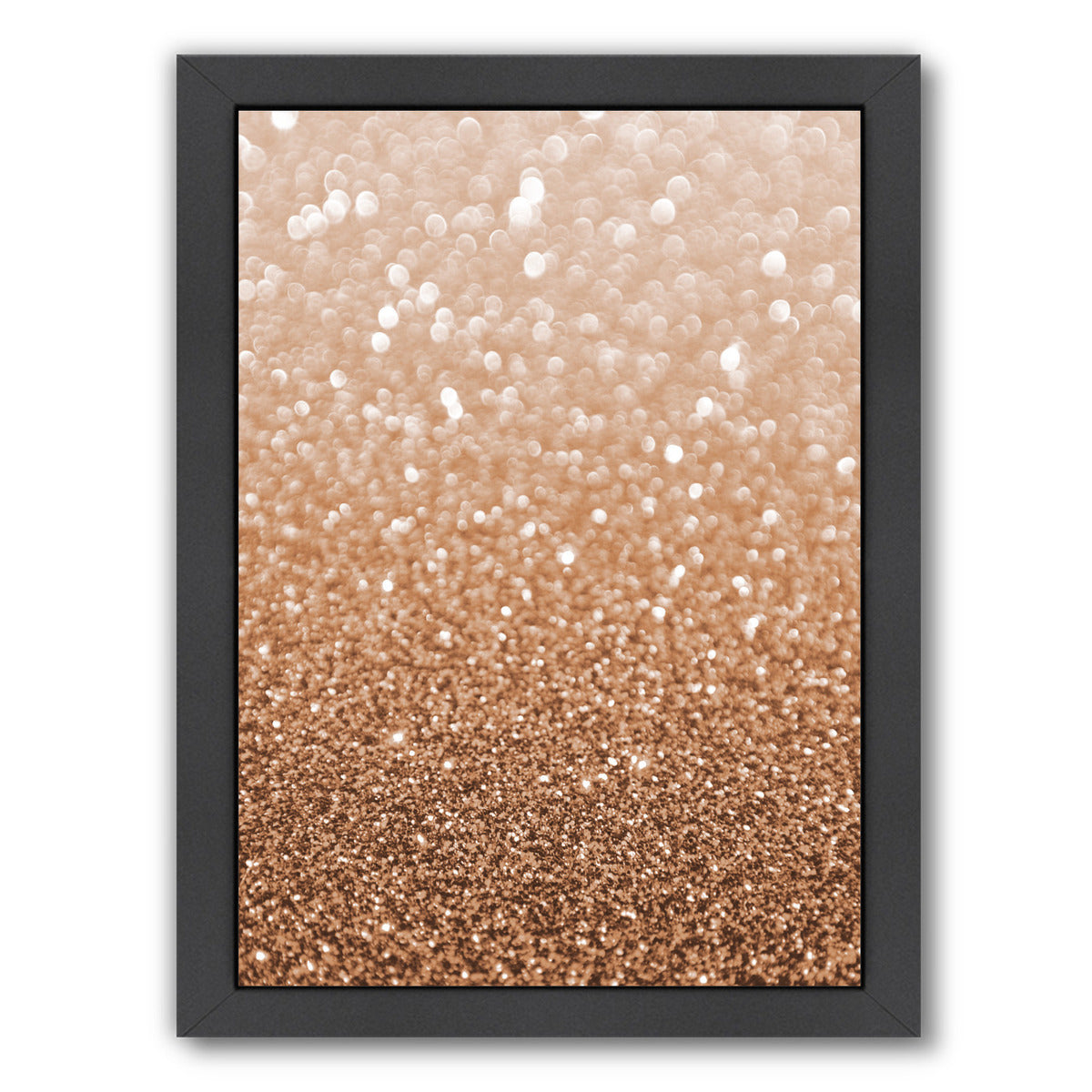 Copper Shiny Texture by Emanuela Carratoni Framed Print - Americanflat