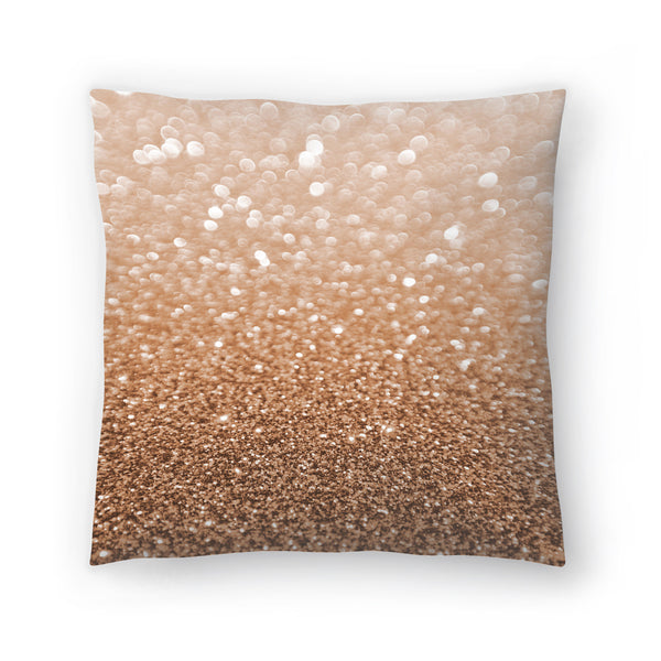 Copper Shiny Texture by Emanuela Carratoni Decorative Pillow