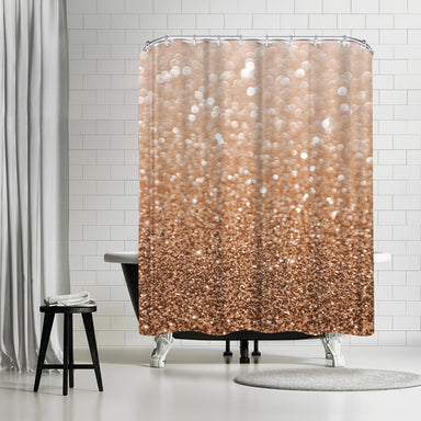 Copper Shiny Texture by Emanuela Carratoni Shower Curtain -  - Americanflat