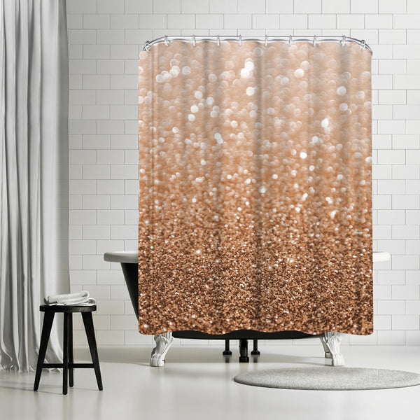 Copper Shiny Texture by Emanuela Carratoni Shower Curtain