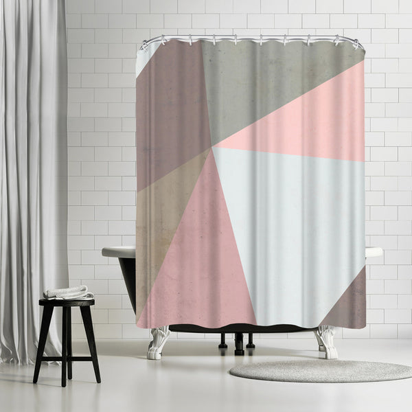 Delicate Geometry by Emanuela Carratoni Shower Curtain