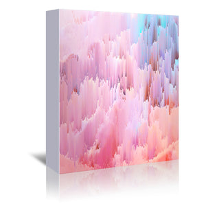 Delicate Glitches by Emanuela Carratoni Wrapped Canvas