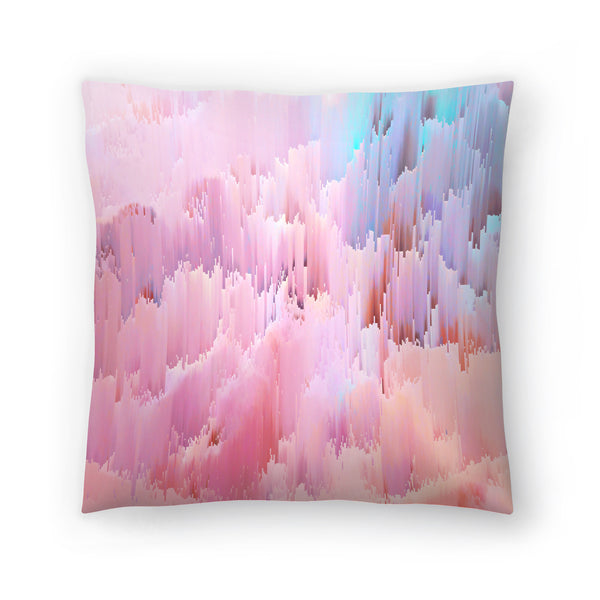 Delicate Glitches by Emanuela Carratoni Decorative Pillow