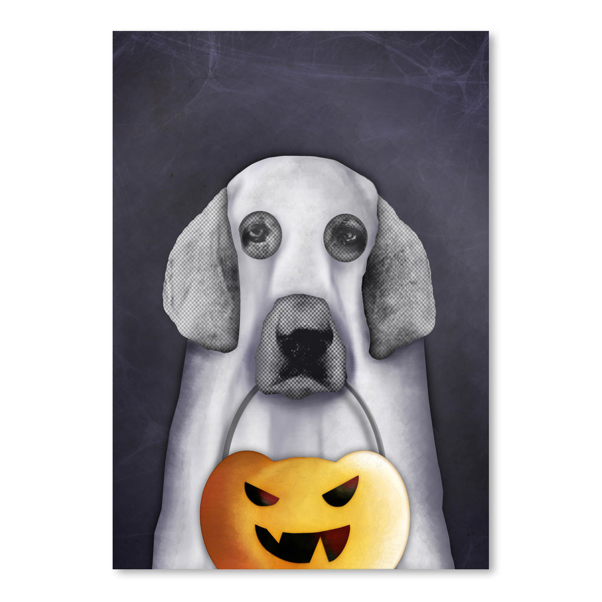 Doggy The Pooh As Ghost by Emanuela Carratoni Art Print - Art Print - Americanflat