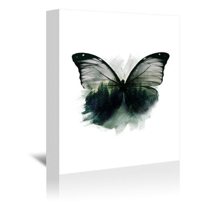 Double Butterfly by Emanuela Carratoni Wrapped Canvas