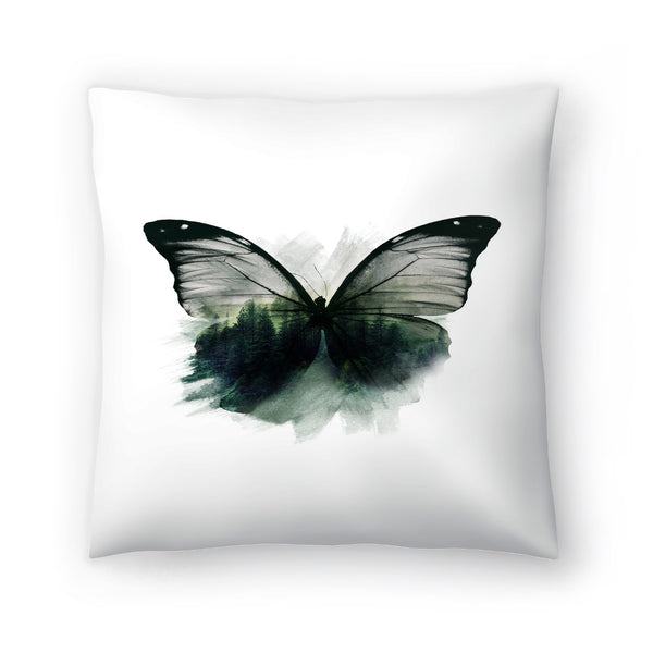 Double Butterfly by Emanuela Carratoni Decorative Pillow