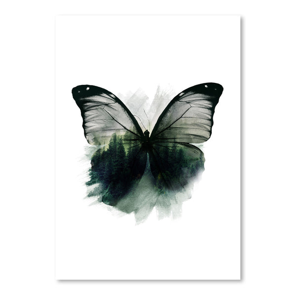 Double Butterfly by Emanuela Carratoni Art Print
