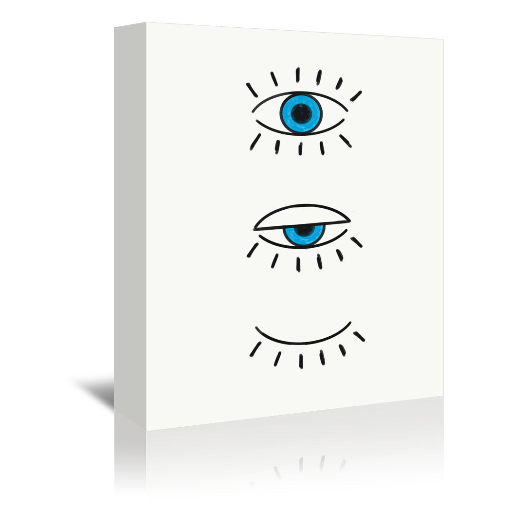 Evil Eye by Emanuela Carratoni Wrapped Canvas - Wrapped Canvas - Americanflat