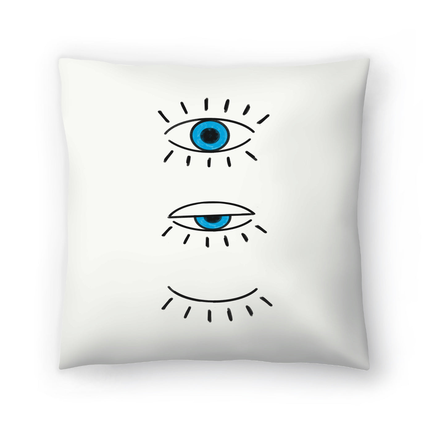 Evil Eye by Emanuela Carratoni Decorative Pillow - Decorative Pillow - Americanflat