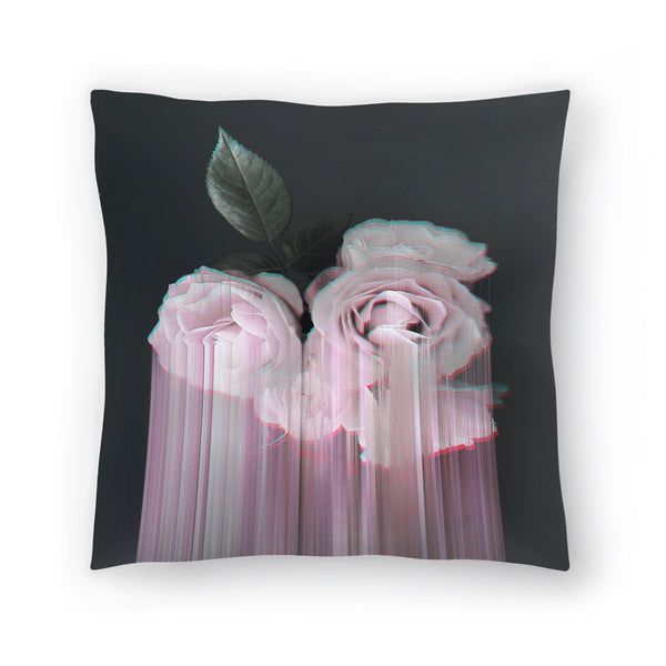 Fall In Rose by Emanuela Carratoni Decorative Pillow