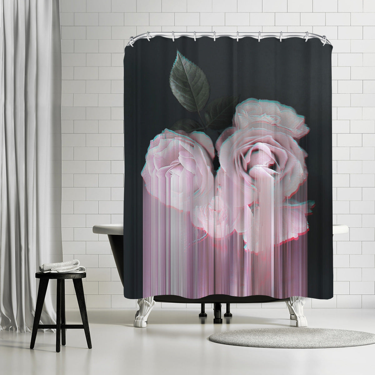 Fall In Rose by Emanuela Carratoni Shower Curtain - Shower Curtain - Americanflat