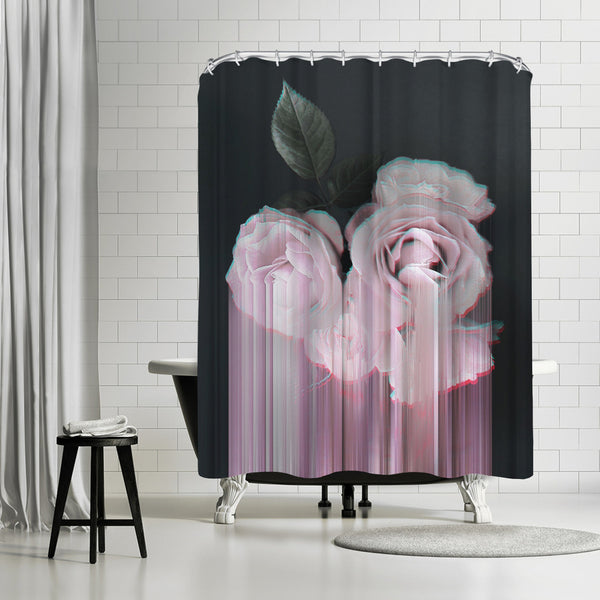 Fall In Rose by Emanuela Carratoni Shower Curtain