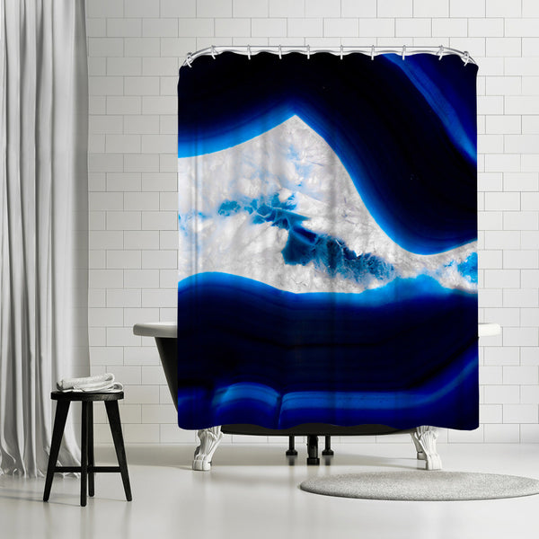 Fluo Agate 1 by Emanuela Carratoni Shower Curtain