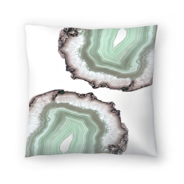Fresh Water Agate by Emanuela Carratoni Decorative Pillow