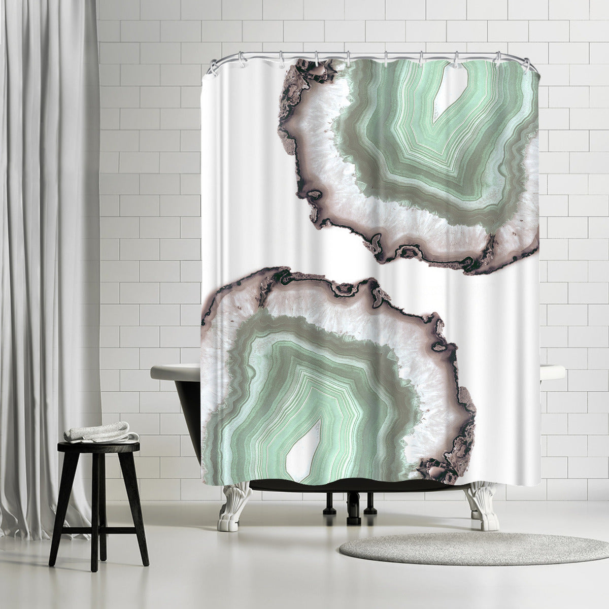 Fresh Water Agate by Emanuela Carratoni Shower Curtain -  - Americanflat