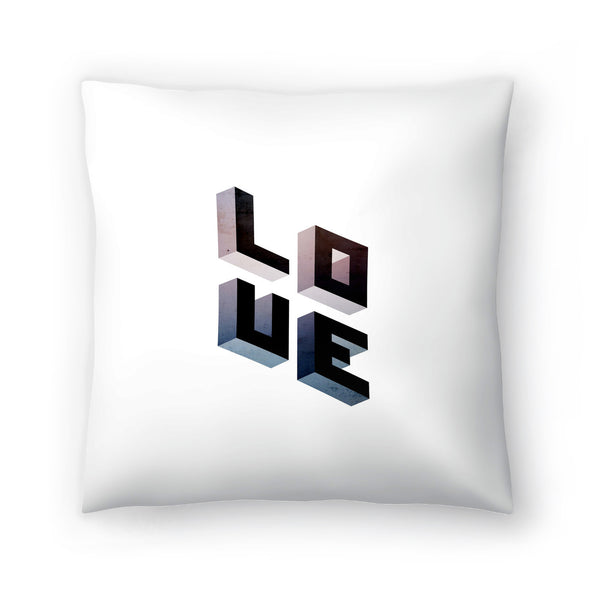 Geometric Love by Emanuela Carratoni Decorative Pillow