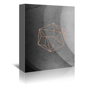Geometric Solids On Marble by Emanuela Carratoni Wrapped Canvas
