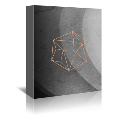 Geometric Solids On Marble by Emanuela Carratoni Wrapped Canvas - Wrapped Canvas - Americanflat
