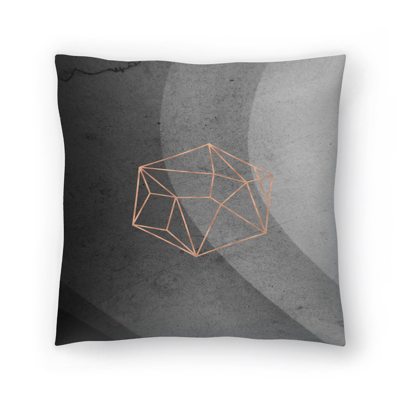 Geometric Solids On Marble by Emanuela Carratoni Decorative Pillow - Decorative Pillow - Americanflat