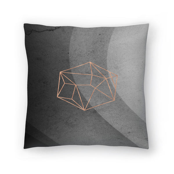 Geometric Solids On Marble by Emanuela Carratoni Decorative Pillow