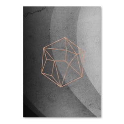 Geometric Solids On Marble by Emanuela Carratoni Art Print