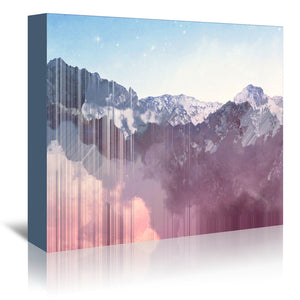 Glitch Mountains by Emanuela Carratoni Wrapped Canvas